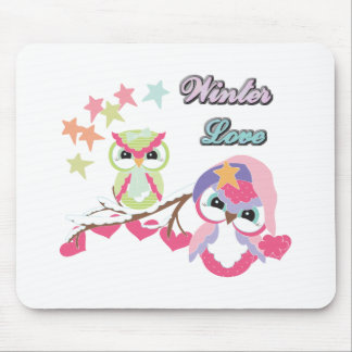 Winter Love Mouse Pad