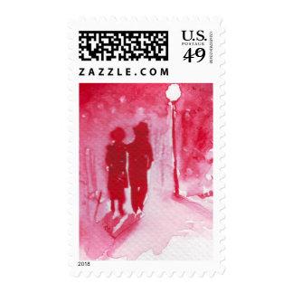 Winter love postage