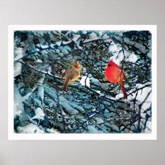 Winter love poster