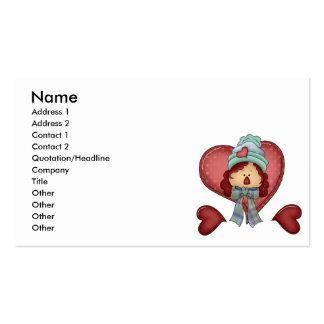 winter love rag annie business card templates