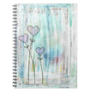 winter love spiral notebook