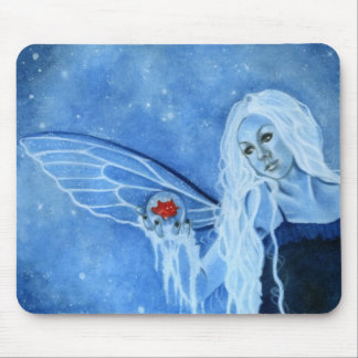Winter Magic Fairy Mousepad