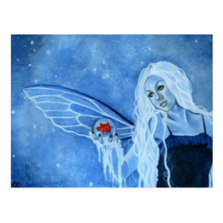 Winter Magic Fairy Postcard