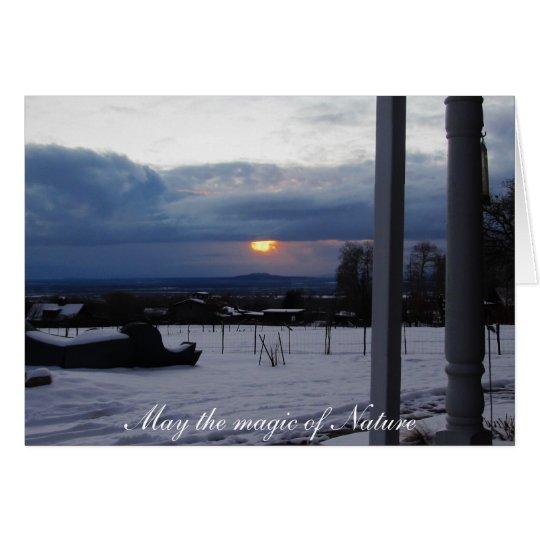 Winter Magic in Taos Card
