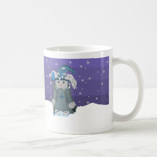 Winter Magic Pixel Art Snow Bunny Wizard Coffee Mug