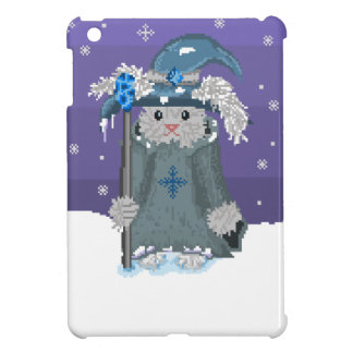 Winter Magic Pixel Art Snow Bunny Wizard iPad Mini Cover
