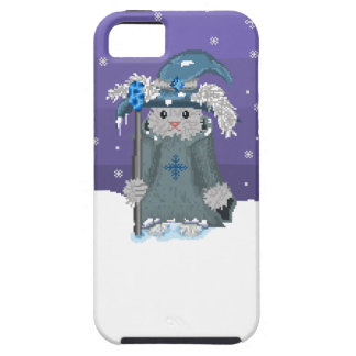 Winter Magic Pixel Art Snow Bunny Wizard iPhone SE/5/5s Case