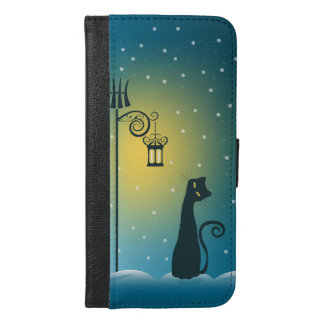 Winter Magical Christmas Cat iPhone 6/6s Plus Wallet Case
