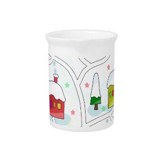 Winter magical landscape pitcher