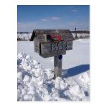 Winter mailbox postcards