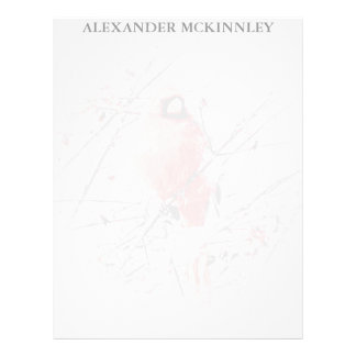 WINTER MALE CARDINAL LETTERHEAD