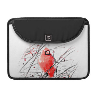 WINTER MALE CARDINAL SLEEVES FOR MacBooks