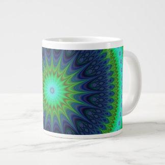 Winter mandala large coffee mug