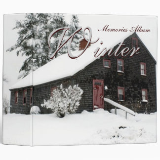 Winter Memories Album 3 Ring Binders