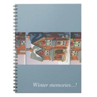 Winter memories notebook