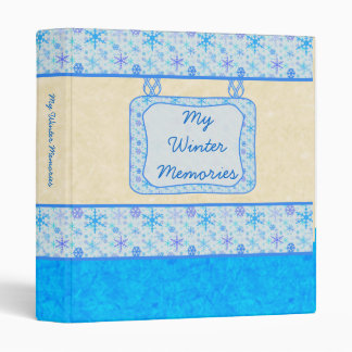 Winter Memories Snowflake 1 Binder
