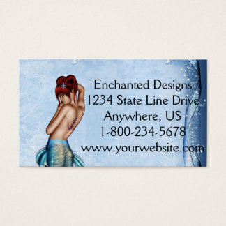 Winter Mermaid Business Card