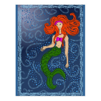 Winter Mermaiden Postcard