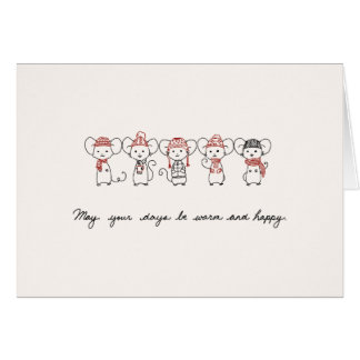Winter Mice Greeting Cards