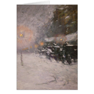 Winter, Midnight - Childe Hassam Card