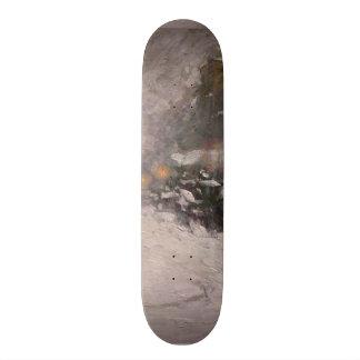 Winter Midnight - Childe Hassam Skate Board Deck