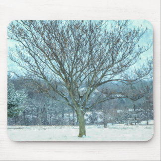 Winter Mimosa Painterly Mouse Pad
