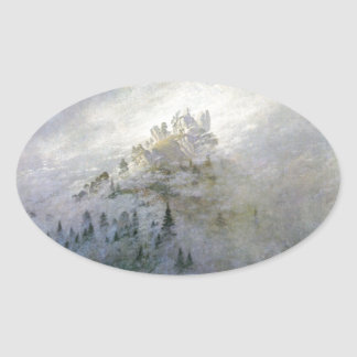 Winter Mist on the Mountains 1808 Stickers