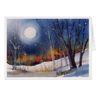WINTER MOON STATIONERY NOTE CARD