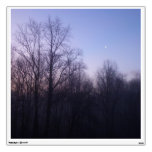 Winter Moon Morning Nature Landscape Photography Wall Sticker