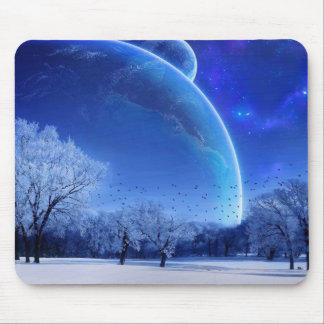 Winter Moon Mouse Pad