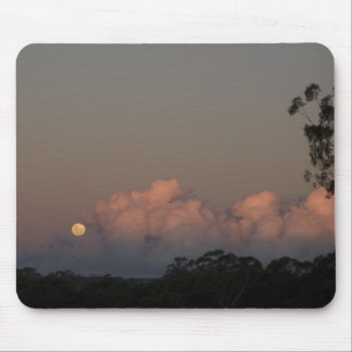 Winter Moonrise Mouse Pad