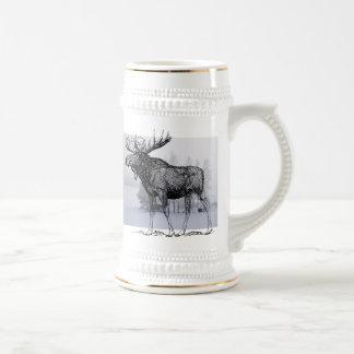 Winter Moose Beer Stein