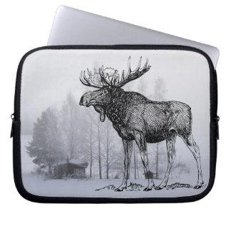 Winter Moose Computer Sleeve