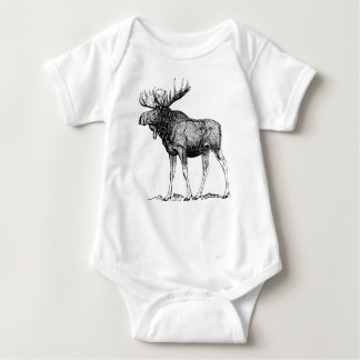 Winter Moose Infant Creeper