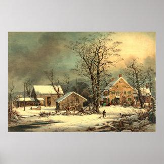 Winter Morning 1863 Poster