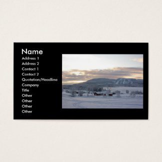 Winter Morning #1 Business Card