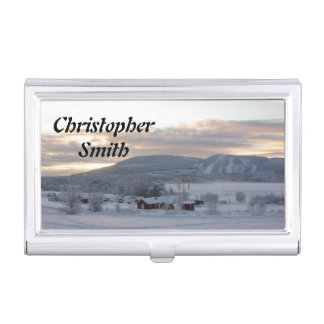 Winter Morning #1 Business Card Case