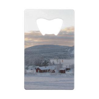 Winter Morning #1 Credit Card Bottle Opener