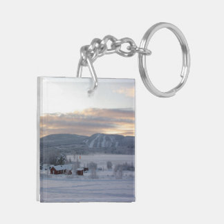 Winter Morning #1 Double-Sided Square Acrylic Keychain