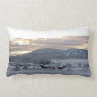 Winter Morning #1 Lumbar Pillow