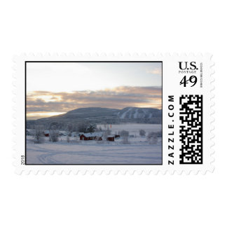 Winter Morning #1 Postage Stamps