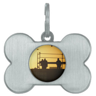 Winter morning above the city pet name tag