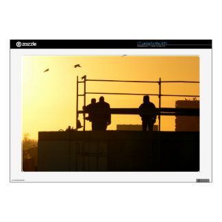 """Winter morning above the city 17"""" laptop skins"""