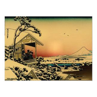 winter morning at the Mount Fuji 5.5x7.5 Paper Invitation Card