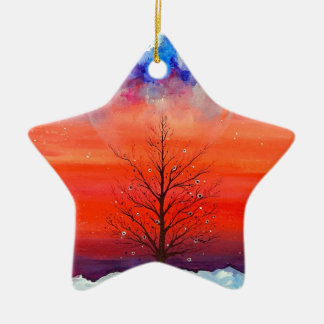 Winter Morning Ceramic Ornament