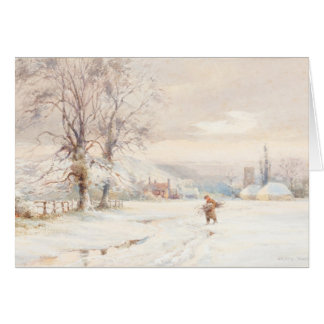 Winter Morning classic painitng Card