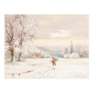 Winter Morning classic painitng Postcard
