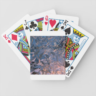 Winter Morning Frost Bicycle Poker Deck