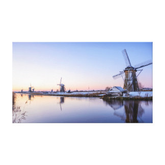 Winter morning in the Netherlands Canvas Print