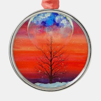 Winter Morning Metal Ornament